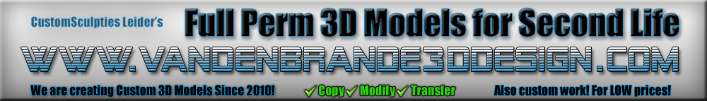 Van den Brande 3D Design custom mesh for second life .dae